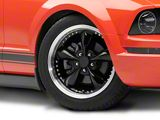 Bullitt Motorsport Black Wheel; 18x9 (05-09 GT, V6)