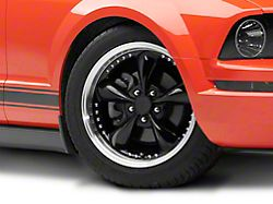 Bullitt Motorsport Black Wheel; 18x9 (05-09 GT, V6)