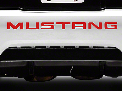 American Muscle Graphics Red Vinyl Bumper Insert Letters (99-04 GT, V6, Mach 1; 99 Cobra)