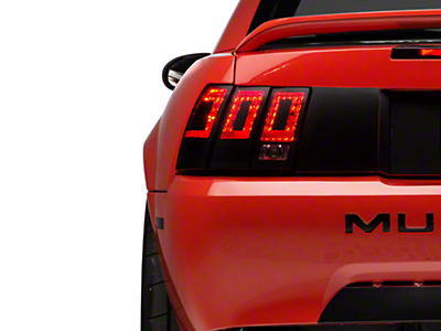 American Muscle Graphics Tail Light Conversion Decal - Matte Black (99-04 All)