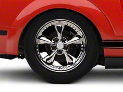 Bullitt Motorsport Chrome Wheel; Rear Only; 18x10 (05-09 GT, V6)