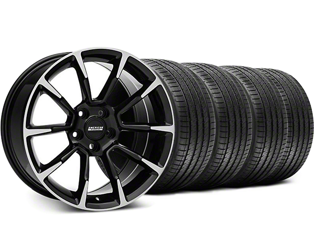 11/12 GT/CS Style Black Machined Wheel & Sumitomo Tire Kit - 18x9 (94-98 All)