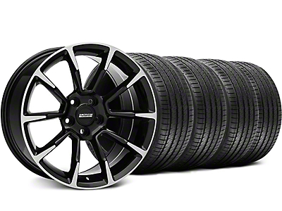 11/12 GT/CS Style Black Machined Wheel & Sumitomo Tire Kit - 18x9 (99-04 All)