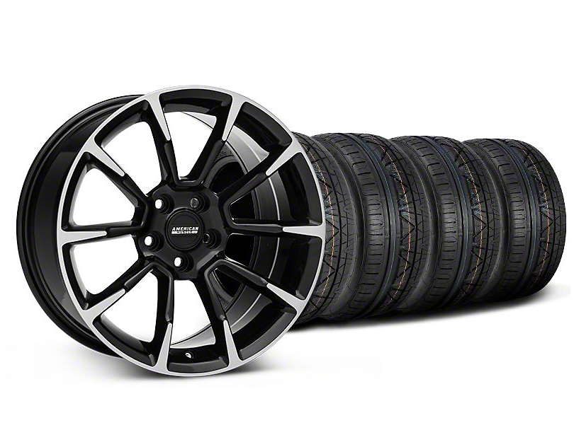11/12 GT/CS Style Black Machined Wheel & NITTO INVO Tire Kit - 19x8.5 (05-14 All)