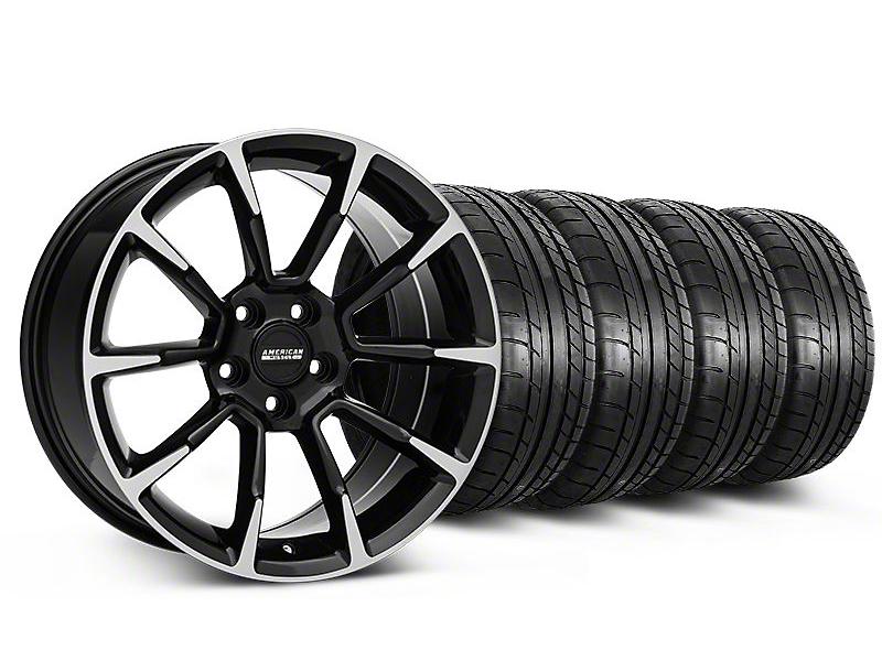 11/12 GT/CS Style Black Machined Wheel & Mickey Thompson Tire Kit - 19x8.5 (05-14 All)