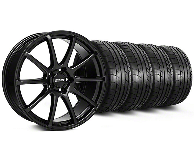 MMD Axim Gloss Black Wheel and Mickey Thompson Tire Kit; 20x8.5 (05-14 All)
