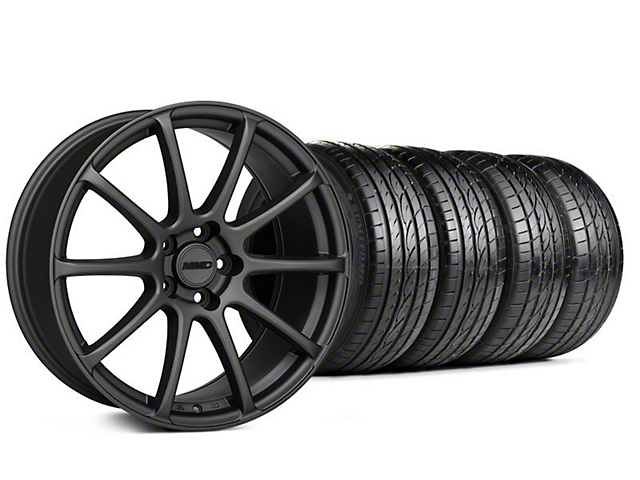 Staggered MMD Axim Charcoal Wheel & Sumitomo Tire Kit - 20x8.5/10 (05-14 All)