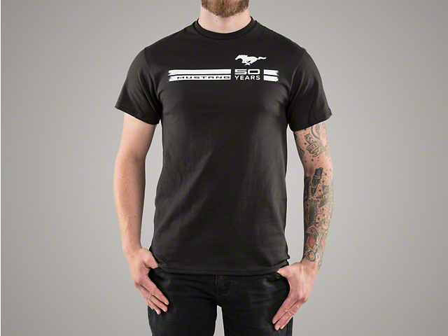 Mustang 50th Anniversary Black T-Shirt - Men