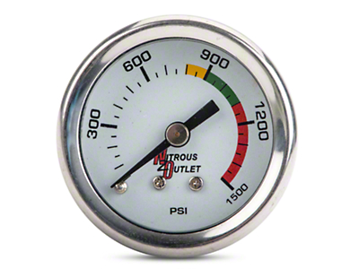 Nitrous Outlet Bottle Pressure Gauge - 4AN (79-18 All)