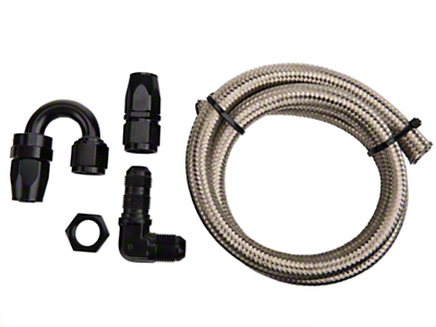 Nitrous Outlet 180 Degree Blow Down Kit - 90 Deg Fitting (79-18 All)