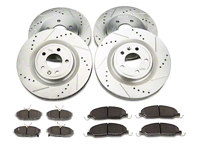 Power Stop Z26 Street Warrior Brake Rotor & Pad Kit - Front & Rear (11-14 Standard GT)