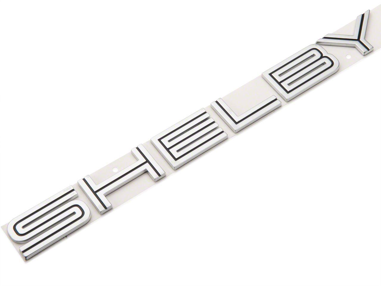 Ford Shelby Lettering Decklid Emblem - Black Inset (07-14 GT500)