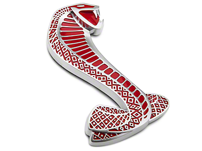 Ford Red GT500 Cobra Snake Fender Emblem - Right Side (07-14 GT500)