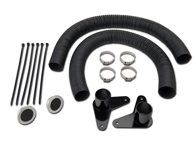 JLT Brake Cooling Kit - Silver Bezels (07-09 GT500)