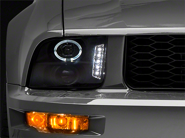 Raxiom Black Projector Headlights - LED Halo (05-09 GT, V6)