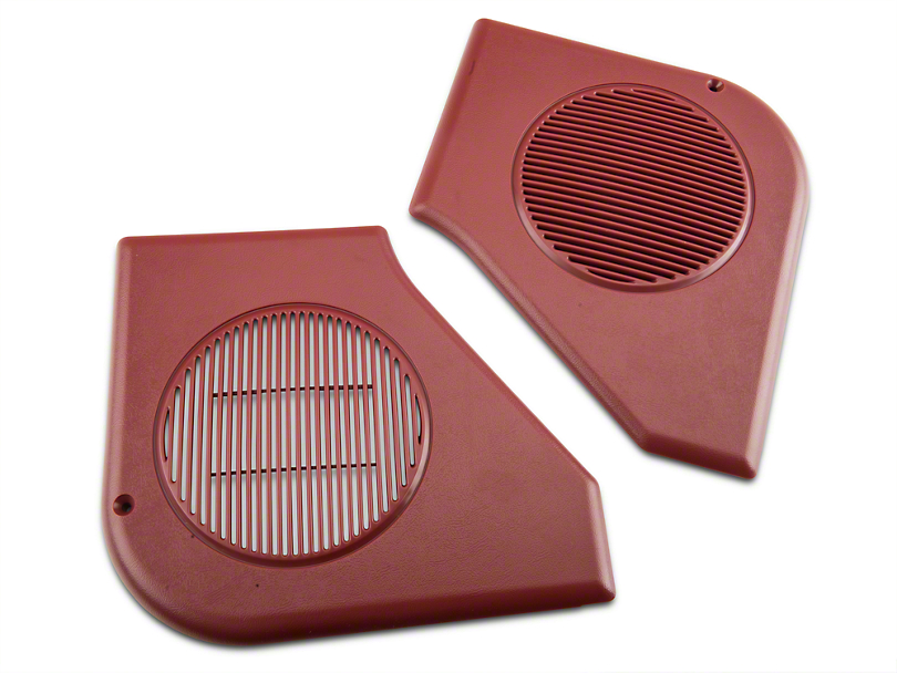 OPR Door Speaker Grille Kit; Scarlet Red (87-93 All)