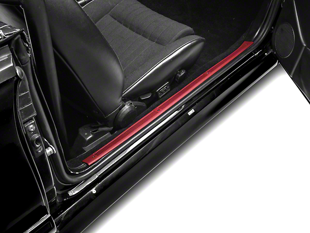 OPR Scarlet Red Door Sill Plates (79-93 All)