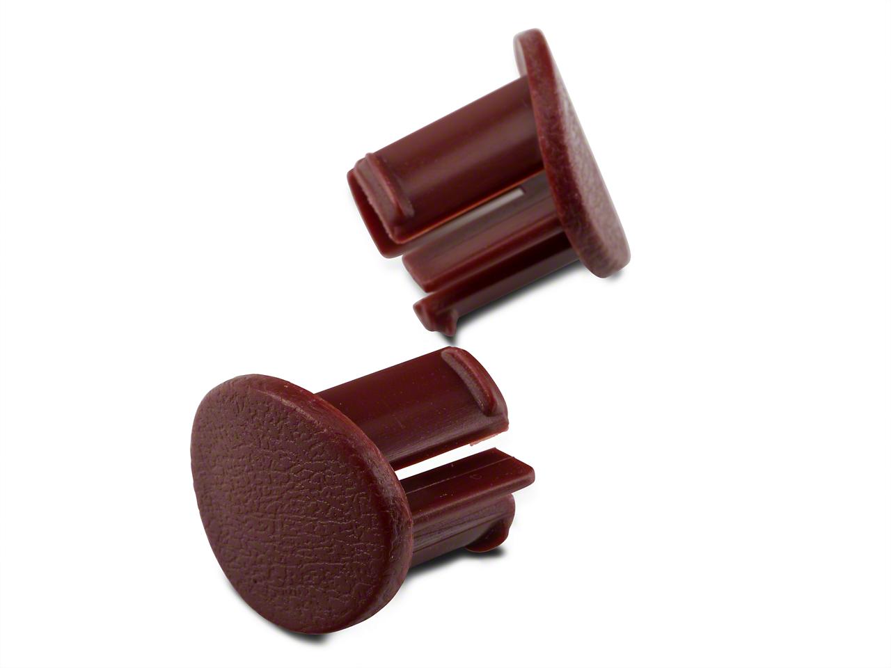 OPR Red Door Armrest Plugs - Left Side (87-93 All)
