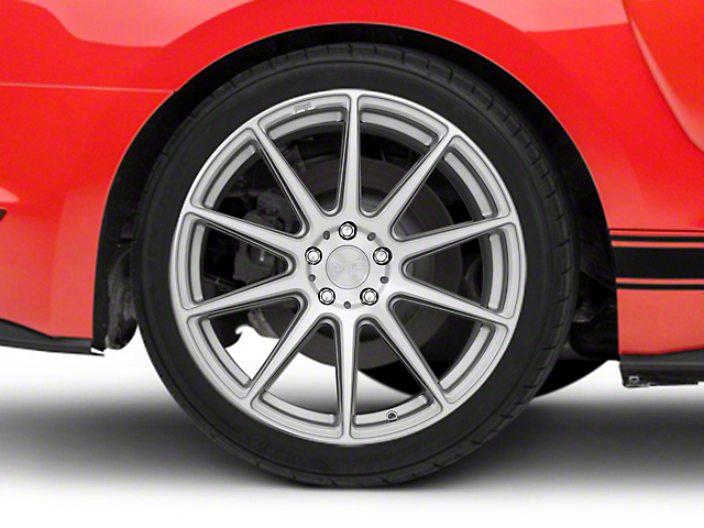 Niche Essen Silver Wheel; Rear Only; 19x10 (15-21 GT, EcoBoost, V6)