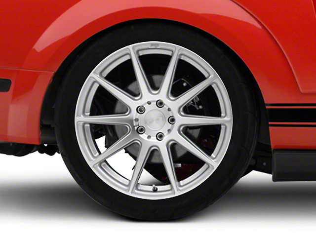 Niche Essen Silver Wheel; Rear Only; 20x10 (05-09 All)