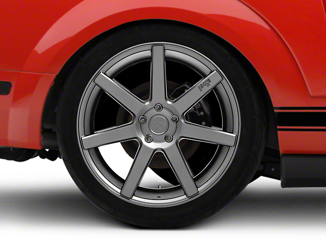 Niche Verona Anthracite Wheel; Rear Only; 20x10 (05-09 All)