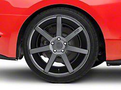 Niche Verona Anthracite Wheel; Rear Only; 20x10 (15-20 GT, EcoBoost, V6)