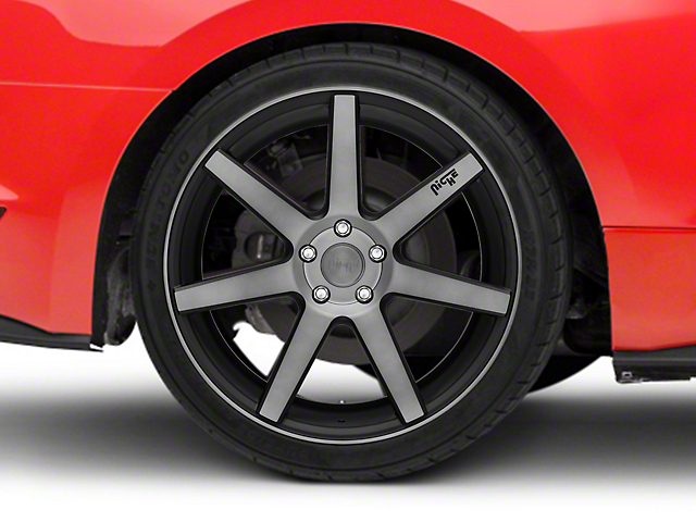 Niche Verona Double Dark Wheel; Rear Only; 20x10 (15-20 GT, EcoBoost, V6)