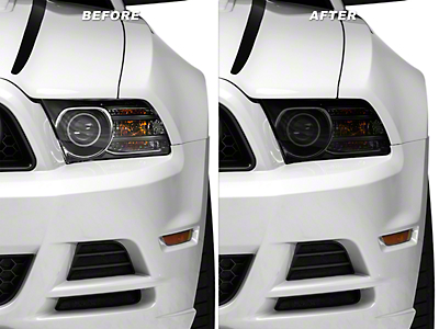 American Muscle Graphics Smoked Headlight Tint Kit (10-14 All)