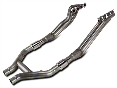 Stainless Works 1-7/8 in. Long Tube Headers & High Flow Catted H-Pipe Kit (11-14 GT500)
