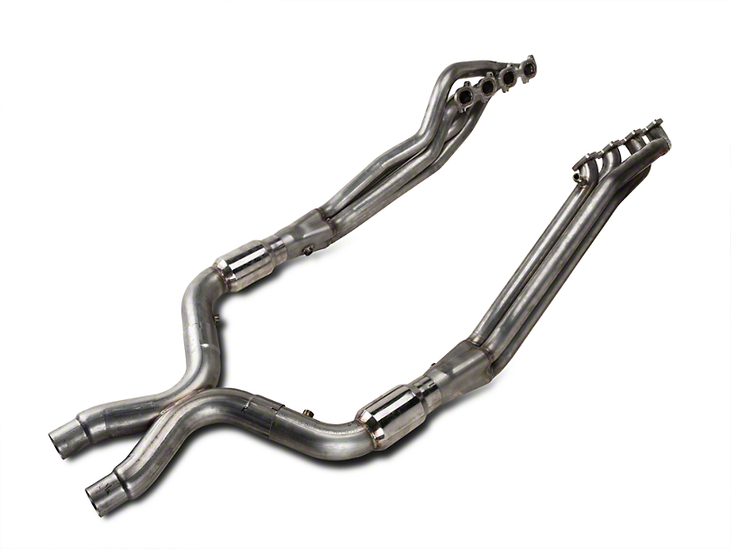 Stainless Works 1-7/8 in. Long Tube Headers & High Flow Catted X-Pipe Kit (07-10 GT500)