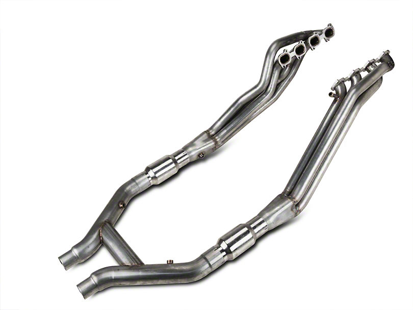 Stainless Works 1-7/8-Inch Long Tube Headers with High Flow Catted H-Pipe (07-10 GT500)
