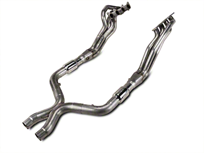 Stainless Works 1-7/8 in. Long Tube Headers & High Flow Catted X-Pipe Kit (11-14 GT)