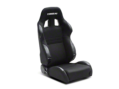 Corbeau A4 Seat - Wide - Black - Pair (79-18 All)