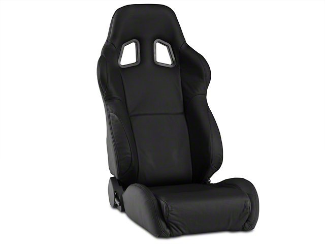 Corbeau A4 Seats - Black Leather - Pair (79-20 All)