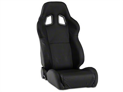 Corbeau A4 Seat - Black Leather - Pair (79-18 All)
