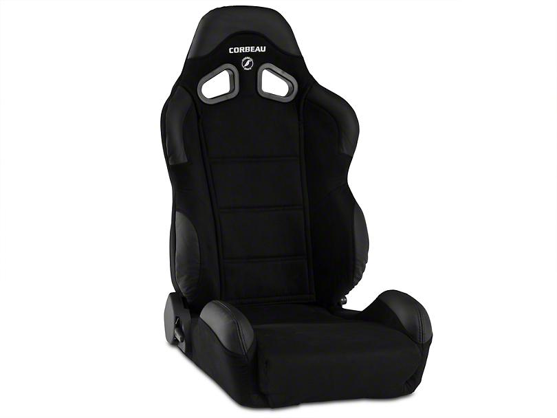 Corbeau CR1 Racing Seat - Black Microsuede - Pair (79-17 All)