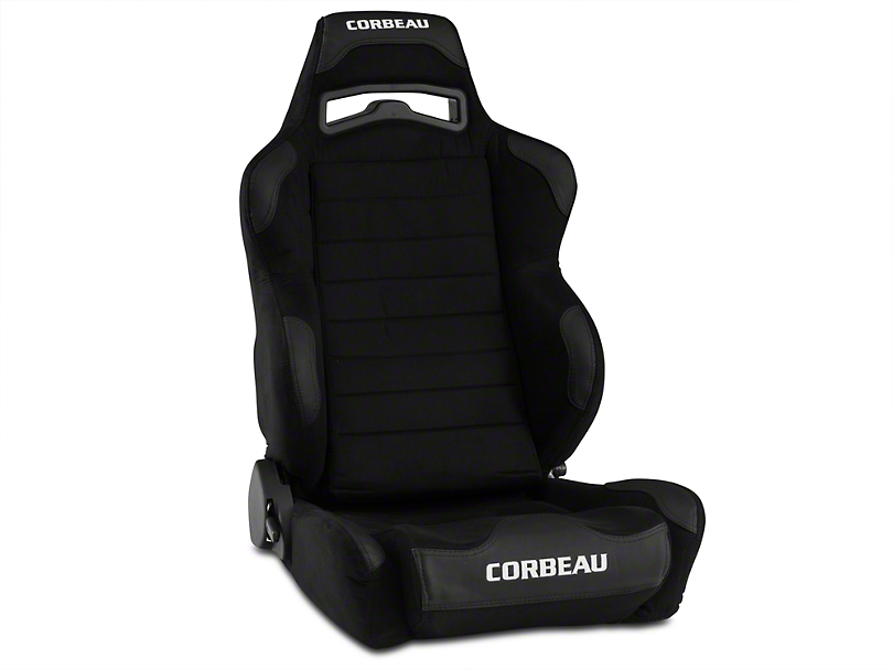 Corbeau LG1 Racing Seat - Black Microsuede - Pair (79-17 All)
