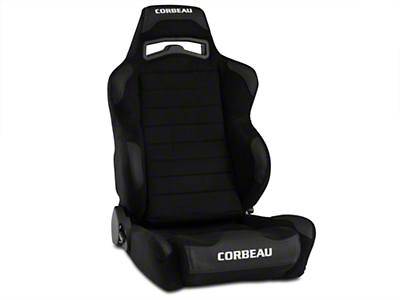 Corbeau LG1 Racing Seat - Black Microsuede - Pair (79-18 All)