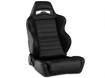 Corbeau LG1 Racing Seat - Black Leather - Pair (79-18 All)