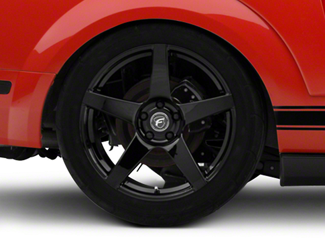 Forgestar CF5 Monoblock Piano Black Wheel; Rear Only; 19x10 (05-09 All)