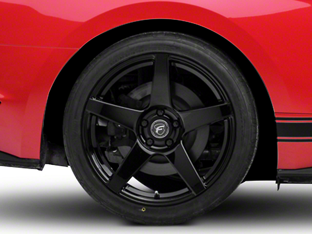 Forgestar CF5 Monoblock Piano Black Wheel; Rear Only; 19x11 (15-20 GT, EcoBoost, V6)