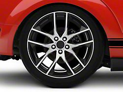 Magnetic Style Black Machined Wheel; Rear Only; 19x10 (05-09 All)