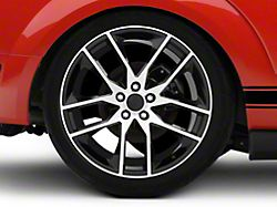 Magnetic Style Black Machined Wheel; Rear Only; 20x10 (05-09 All)