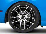 Magnetic Style Black Machined Wheel; Rear Only; 20x10 (10-14 All)