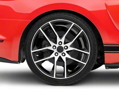 mustang magnetic style black machined wheel 20x10 15 19 gt White and Black 72 Mustang Mach 1 mustang magnetic style black machined wheel 20x10 15 19 gt ecoboost v6