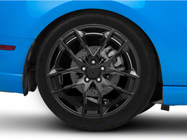 Magnetic Style Black Wheel; Rear Only; 20x10 (10-14 All)