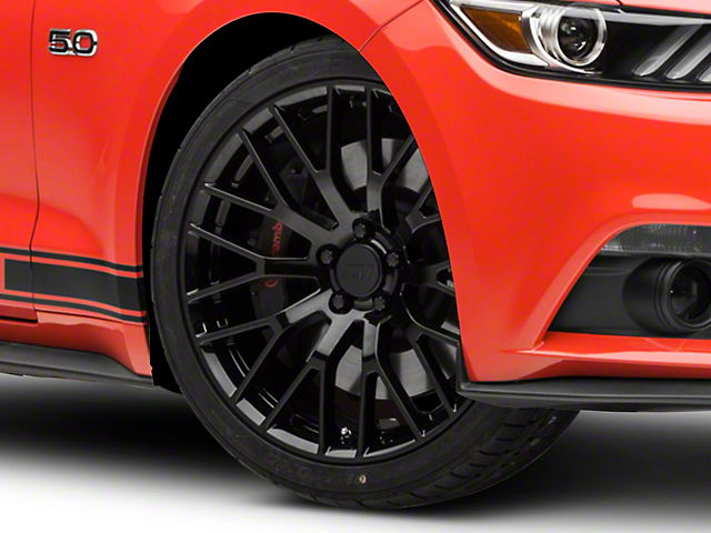 Performance Pack Style Black Wheel; 20x8.5 (15-21 GT, EcoBoost, V6)