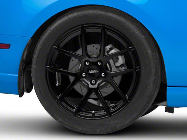 MMD Zeven Black Wheel; Rear Only; 19x10 (10-14 All)