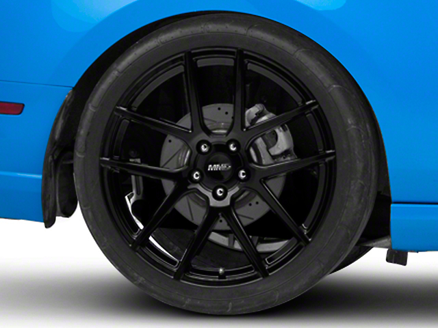 MMD Zeven Black Wheel; Rear Only; 20x10 (10-14 All)