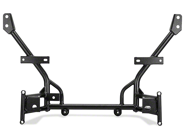 BMR Tubular K-Member; Standard Motor Mounts; Black Hammertone (05-14 All)